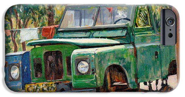 Jeep iPhone Cases - Journeys End, 2006 Oil On Canvas iPhone Case by Tilly Willis