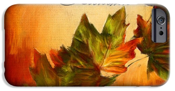 Reds Of Autumn iPhone Cases - Joy Of Autumn iPhone Case by Lourry Legarde