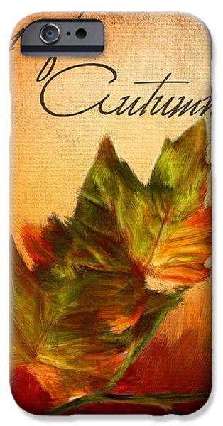 Joy Of Autumn iPhone Case by Lourry Legarde