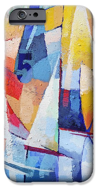 Abstract Digital Paintings iPhone Cases - Joy of Life iPhone Case by Lutz Baar