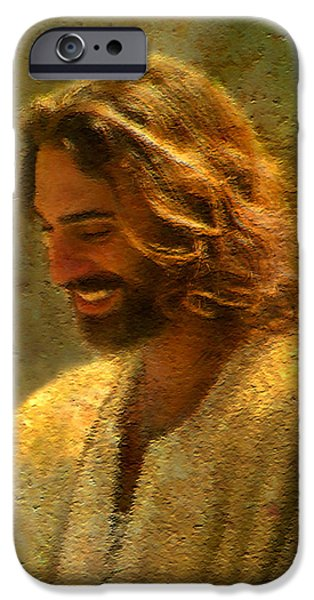 Religious Art iPhone Cases - Joy of the Lord iPhone Case by Greg Olsen