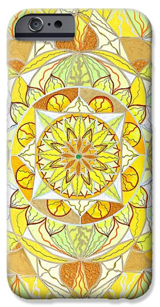 Mandalas iPhone Cases - Joy iPhone Case by Teal Eye  Print Store