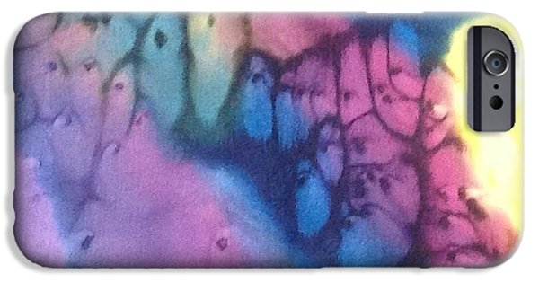 Abstracted Tapestries - Textiles iPhone Cases - Silk-9 iPhone Case by Julia Shapiro