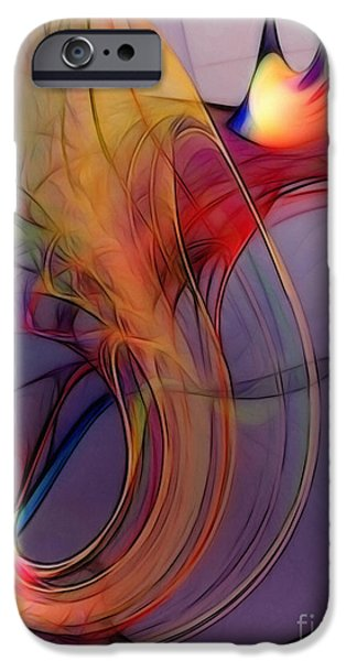 Poetic iPhone Cases - Joyful Leap-Abstract Art iPhone Case by Karin Kuhlmann