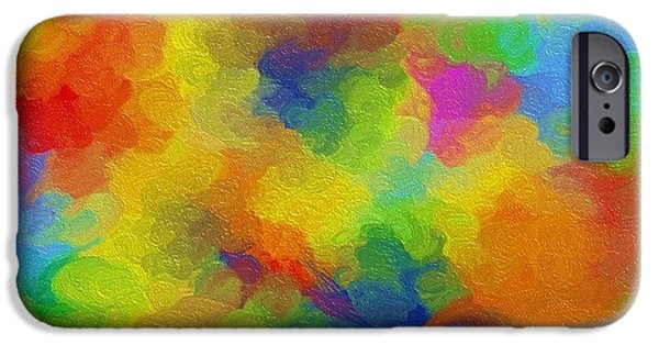 Recently Sold -  - Abstract Digital Digital Art iPhone Cases - Joyful palette iPhone Case by Abstract Digital