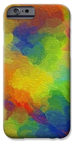 Joyful palette iPhone Case by Abstract Digital