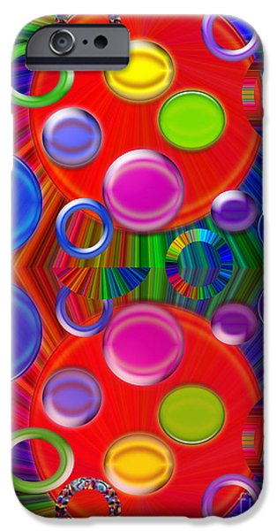 Abstract Digital iPhone Cases - Joyous iPhone Case by Tina M Wenger