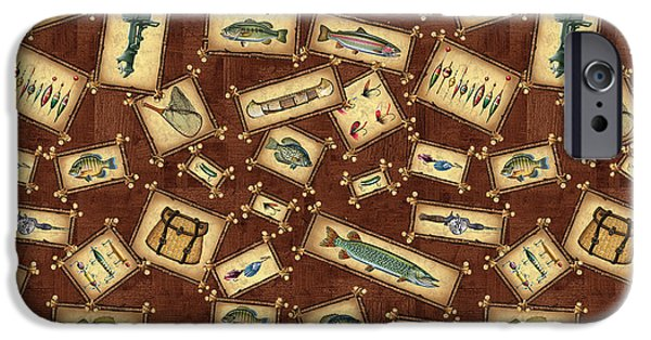 Musky Paintings iPhone Cases - JQ Lake Lodge Bedding Pillow iPhone Case by Jon Q Wright