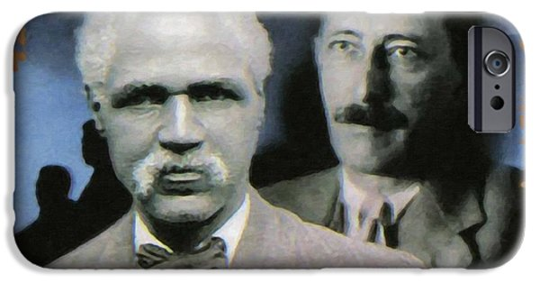Abolition Paintings iPhone Cases - J.R. Clifford and Joel Elias Spingarn iPhone Case by Lanjee Chee