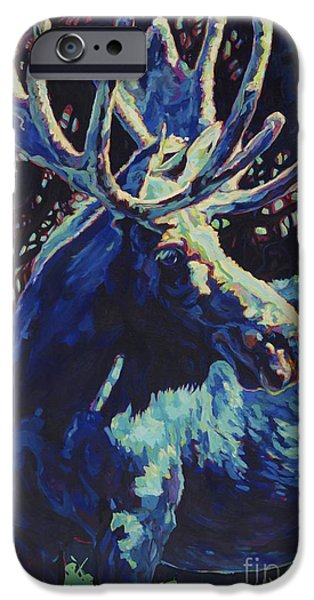 Bull Moose iPhone Cases - Jr iPhone Case by Patricia A Griffin
