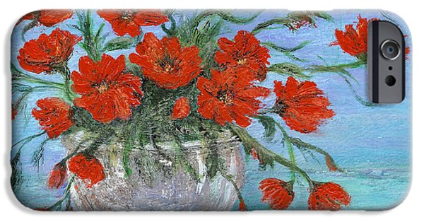 Catherine Howard iPhone Cases - Jubilee Poppies iPhone Case by Catherine Howard