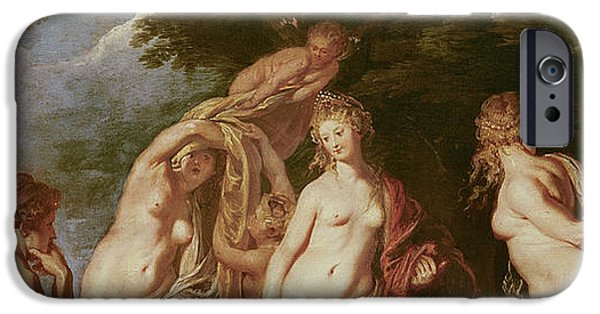 Hera iPhone Cases - Judgement of Paris iPhone Case by Peter Paul Rubens