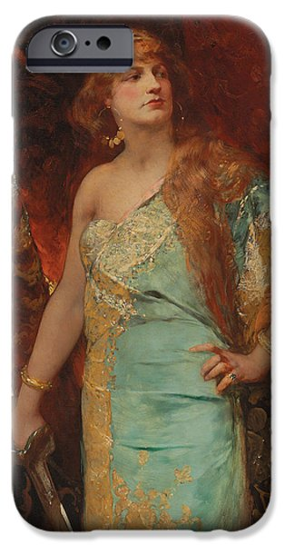 Weapon Paintings iPhone Cases - Judith iPhone Case by Jean Joseph Benjamin Constant