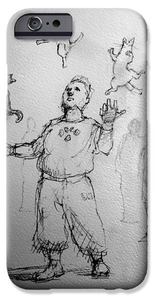 Juggler iPhone Case by H James Hoff