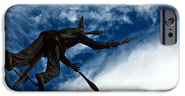 Juggling Photographs iPhone Cases - Juggling Statue iPhone Case by Jess Kraft