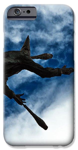 Juggling Statue iPhone Case by Jess Kraft