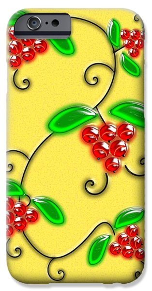 Berry iPhone Cases - Juicy Berries iPhone Case by Anastasiya Malakhova