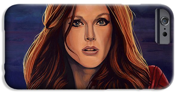 Change Paintings iPhone Cases - Julianne Moore iPhone Case by Paul  Meijering