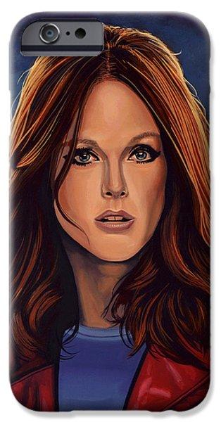 Julianne Moore iPhone Case by Paul  Meijering