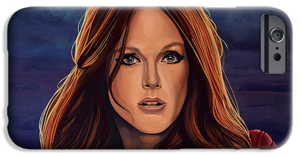 World Changing iPhone Cases - Julianne Moore iPhone Case by Paul Meijering