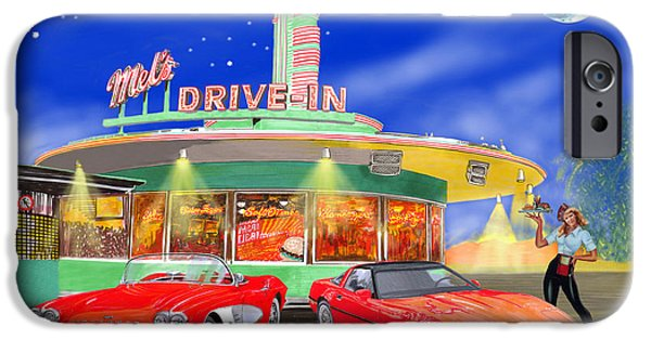 1950s Movies iPhone Cases - Julies Corvettes iPhone Case by Jack Pumphrey