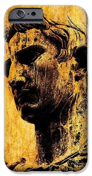 Julius Caesar iPhone Cases - Julius Caesar  iPhone Case by Mike Grubb