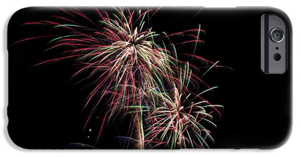 Fireworks iPhone Cases - July 4th 2014 100 iPhone Case by Chad Rowe