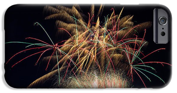 Fireworks iPhone Cases - July 4th 2014 83 iPhone Case by Chad Rowe