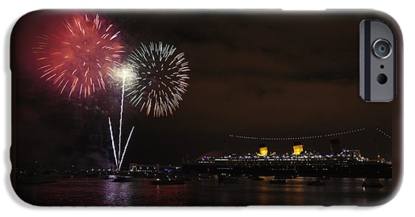 July 4th iPhone Cases - July 4th Fireworks - Long Beach California iPhone Case by Ram Vasudev
