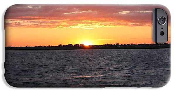 4th July Photographs iPhone Cases - July 4th Sunset iPhone Case by John Telfer