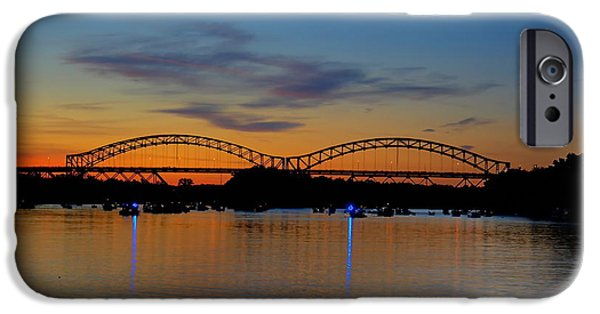 Fourth Of July iPhone Cases - July Sunset At The Arrigoni Bridge iPhone Case by Marcel  J Goetz  Sr