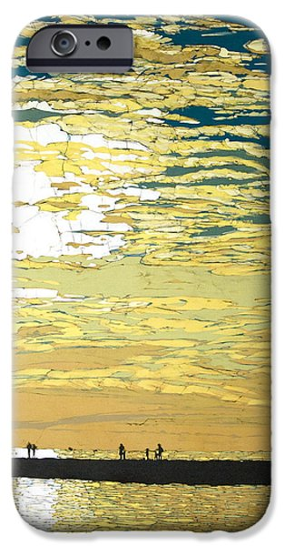 Sunset Tapestries - Textiles iPhone Cases - July Sunset iPhone Case by Terri Haugen