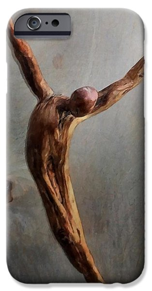 Wooden Sculptures iPhone Cases - Jump iPhone Case by Gun Legler