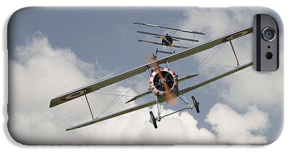Fokker D V11 iPhone Cases - Jumped iPhone Case by Pat Speirs