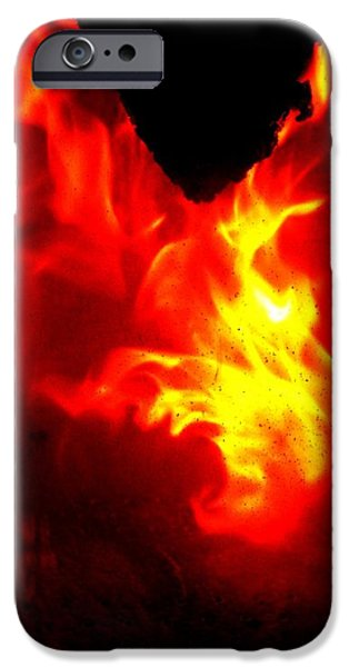 Jumping Dragon iPhone Case by Hilde Widerberg