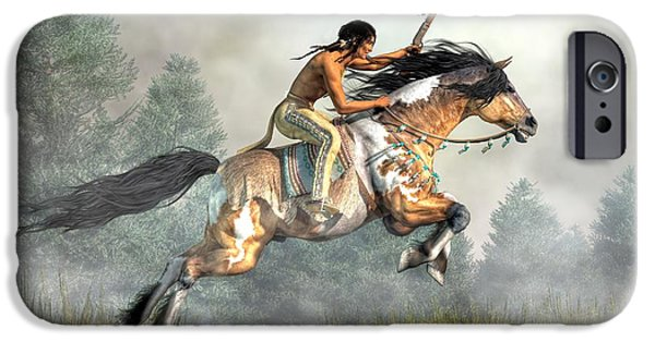 Hopi iPhone Cases - Jumping Horse iPhone Case by Daniel Eskridge