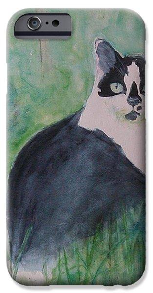 Eva Marie iPhone Cases - Jungle Cat iPhone Case by Eva Marie Tanner-Klaas