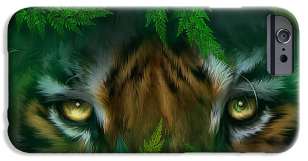 Bengal Tiger iPhone Cases - Jungle Eyes - Tiger iPhone Case by Carol Cavalaris