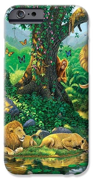 Jungle Harmony iPhone Case by Chris Heitt