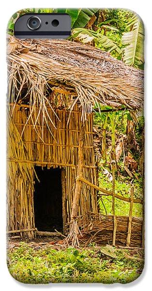Jungle Hut In A Tropical Rainforest iPhone Case by Colin Utz