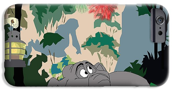 Fireworks Drawings iPhone Cases - Jungle Innocents  iPhone Case by Megan Dotter