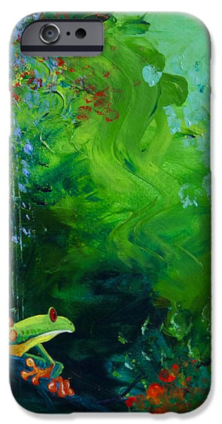 Jungle Rains I iPhone Case by Tracy L Teeter