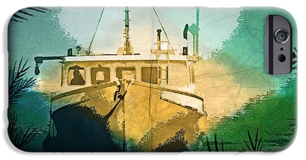 Boat iPhone Cases - Jungle Tour iPhone Case by Melissa  Reese Peterson