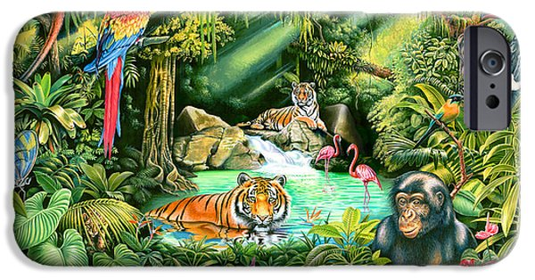 Fauna iPhone Cases - Jungle Variant 1 iPhone Case by Mark Gregory