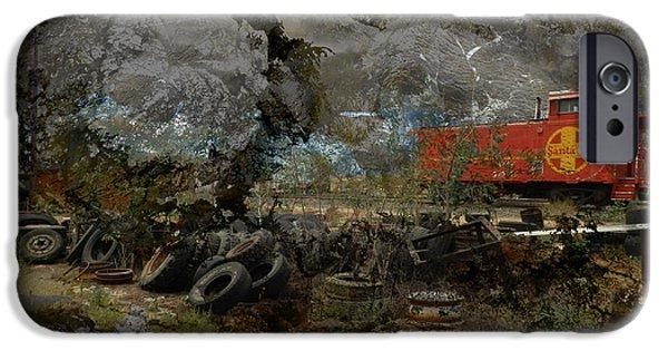 Junk Yard iPhone Cases - Junk Yard Storm iPhone Case by Robert Ball