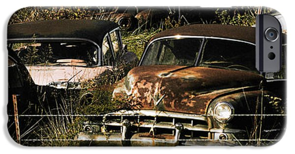 Rust iPhone Cases - Junk Yard iPhone Case by Thomas Bomstad