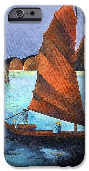 Junks In the Descending Dragon Bay iPhone Case by Tracey Harrington-Simpson