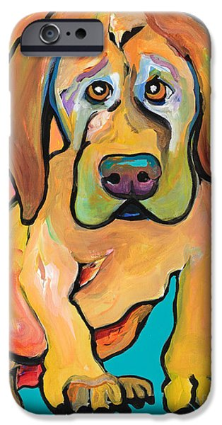 Great Dane Puppy iPhone Cases - Juno iPhone Case by Pat Saunders-White
