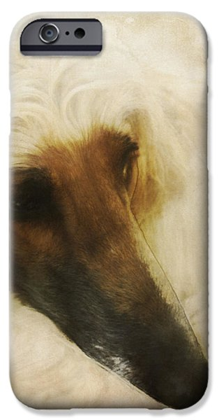 Afghan Hound Watercolor iPhone Cases - Juno Resting iPhone Case by Diane Chandler