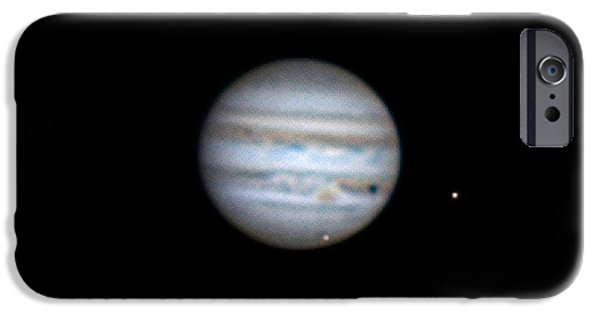 Galilean Moon iPhone Cases - Jupiter And Moons, 2013 iPhone Case by John Chumack